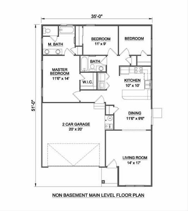 Bungalow Floor Plan - Other Floor Plan #116-259