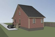 Dream House Plan - Cottage Exterior - Rear Elevation Plan #79-175