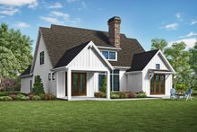 House Design - Farmhouse Exterior - Rear Elevation Plan #48-940
