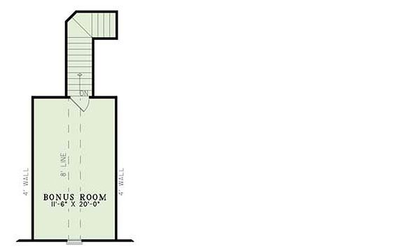 European Floor Plan - Upper Floor Plan Plan #17-1124