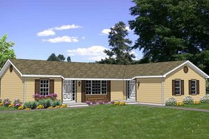 Ranch Exterior - Front Elevation Plan #116-283
