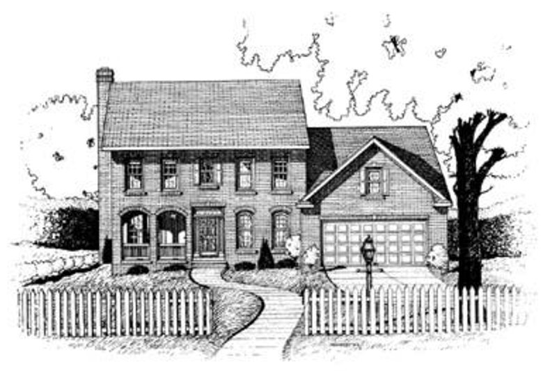 Colonial Exterior - Front Elevation Plan #20-922