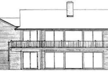 Colonial Exterior - Rear Elevation Plan #72-315