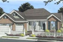 Traditional Exterior - Front Elevation Plan #20-1830