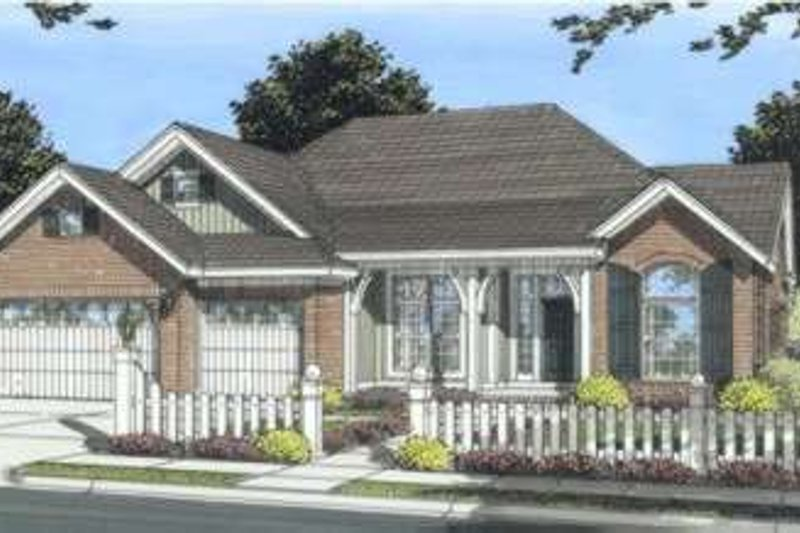 Traditional Exterior - Front Elevation Plan #20-1830 - Houseplans.com