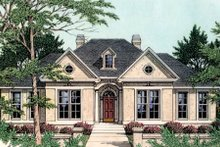 European Exterior - Front Elevation Plan #406-111
