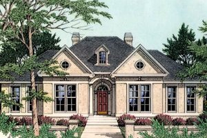 Home Plan - European Exterior - Front Elevation Plan #406-111