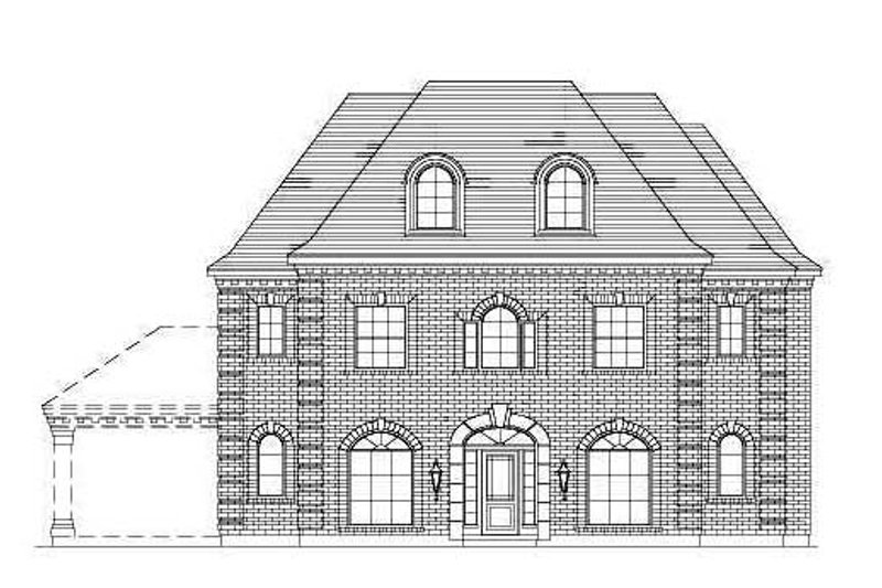 Traditional Style House Plan - 5 Beds 3 Baths 3770 Sq/Ft Plan #411-176 Exterior - Front Elevation