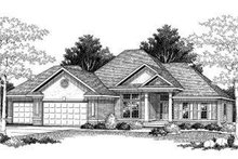 Dream House Plan - Traditional Exterior - Front Elevation Plan #70-773
