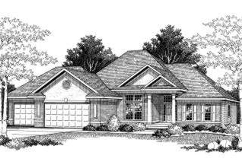 Traditional Exterior - Front Elevation Plan #70-773