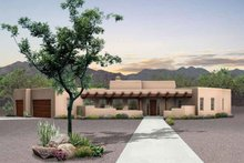 Adobe / Southwestern Exterior - Front Elevation Plan #72-127