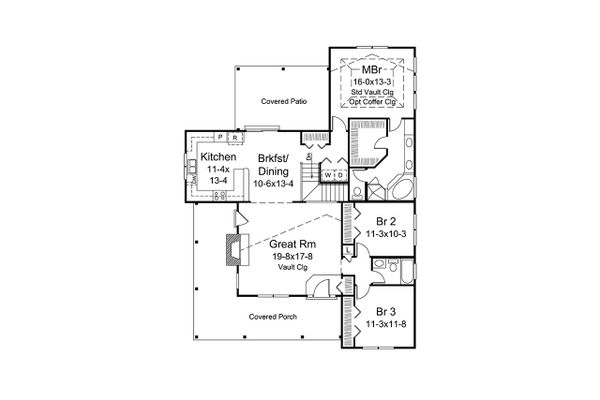 Country Floor Plan - Main Floor Plan Plan #57-669