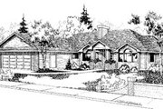 Traditional Style House Plan - 3 Beds 2 Baths 2185 Sq/Ft Plan #60-154 Exterior - Front Elevation