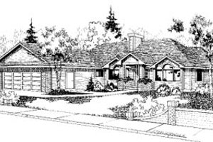 Traditional Exterior - Front Elevation Plan #60-154