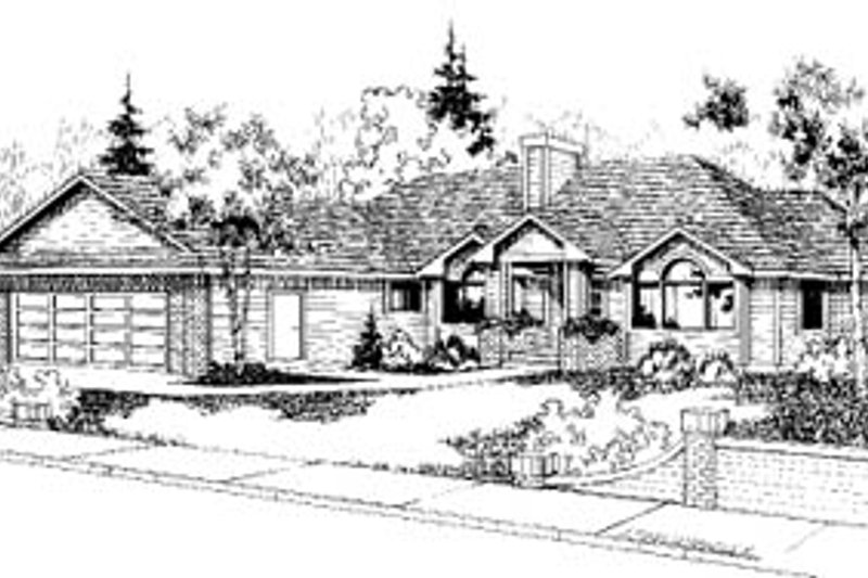 Traditional Exterior - Front Elevation Plan #60-154 - Houseplans.com