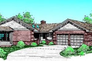 Traditional Exterior - Front Elevation Plan #60-213