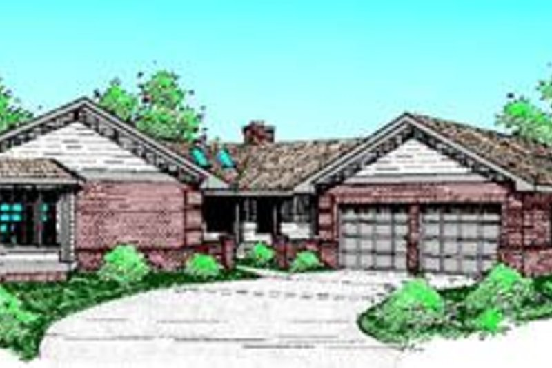 Traditional Exterior - Front Elevation Plan #60-213 - Houseplans.com