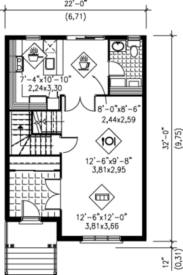 Victorian Floor Plan - Main Floor Plan Plan #25-4228