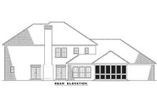 House Design - Colonial Exterior - Rear Elevation Plan #17-2090