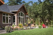 Ranch Style House Plan - 3 Beds 3 Baths 2910 Sq/Ft Plan #48-712 Exterior - Rear Elevation