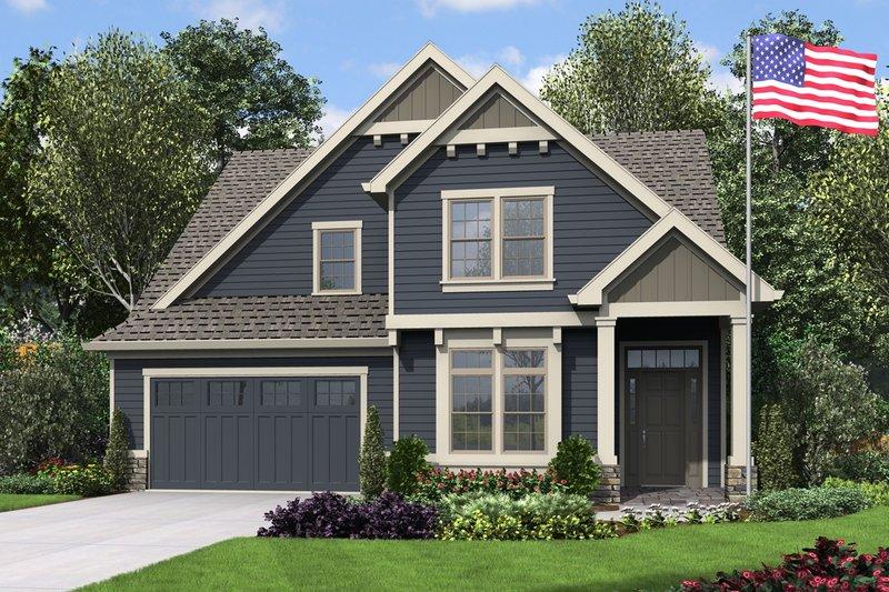 Dream House Plan - Craftsman Exterior - Front Elevation Plan #48-994