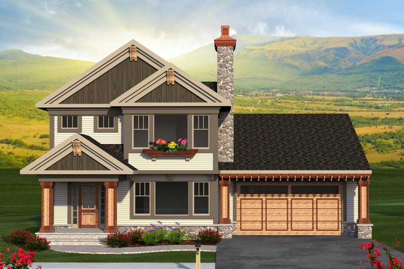 Home Plan - Traditional Exterior - Front Elevation Plan #70-1194