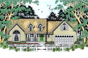 Architectural House Design - Country Exterior - Front Elevation Plan #42-392