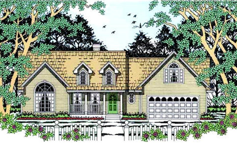 Home Plan - Country Exterior - Front Elevation Plan #42-392