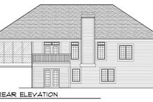 House Design - European Exterior - Rear Elevation Plan #70-778