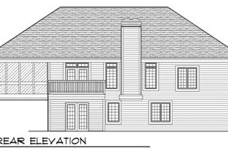 European Exterior - Rear Elevation Plan #70-778 - Houseplans.com