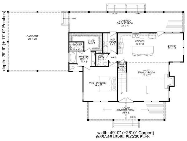 Dream House Plan - Country Floor Plan - Main Floor Plan #932-360