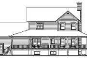 Country Style House Plan - 3 Beds 2.5 Baths 2129 Sq/Ft Plan #23-369 Exterior - Rear Elevation