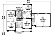 Country Style House Plan - 2 Beds 1 Baths 1285 Sq/Ft Plan #25-4637 Floor Plan - Main Floor Plan