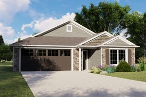House Plan Design - Cottage Exterior - Front Elevation Plan #1064-104