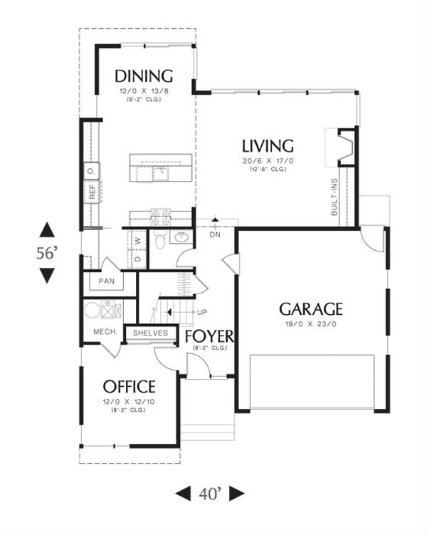 Modern Floor Plan - Main Floor Plan Plan #48-534