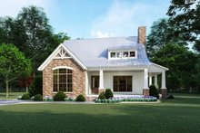 Cottage Exterior - Front Elevation Plan #923-118