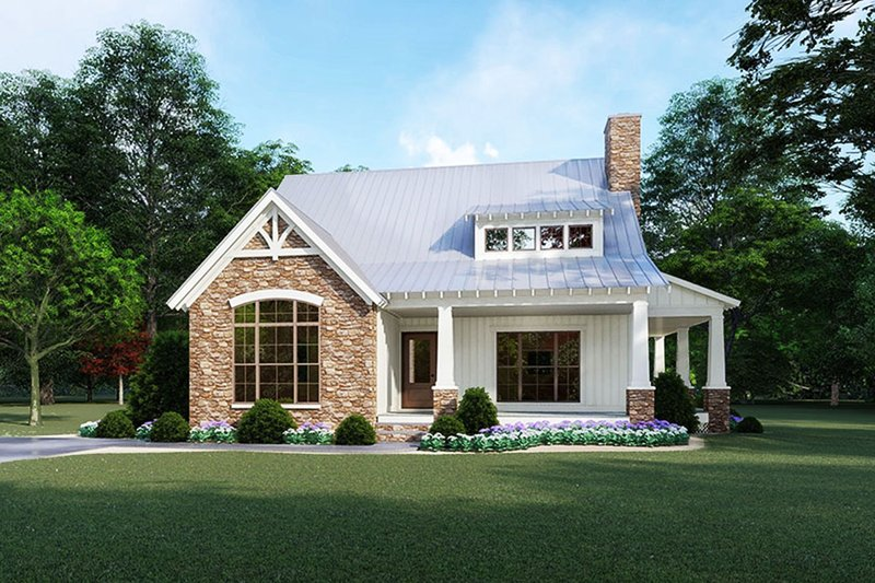Cottage Style House Plan - 3 Beds 2.5 Baths 1957 Sq/Ft Plan #923-118 Exterior - Front Elevation