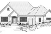 European Style House Plan - 4 Beds 2.5 Baths 3772 Sq/Ft Plan #51-480 Exterior - Other Elevation