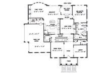 Colonial Floor Plan - Main Floor Plan Plan #54-133