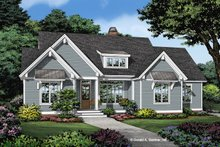 Cottage Exterior - Front Elevation Plan #929-1102
