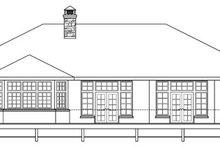 Dream House Plan - Mediterranean Exterior - Rear Elevation Plan #124-727