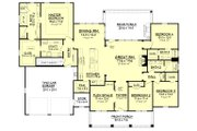 Craftsman Style House Plan - 4 Beds 3 Baths 2639 Sq/Ft Plan #430-104 Floor Plan - Main Floor
