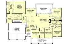 Craftsman Floor Plan - Main Floor Plan Plan #430-104