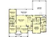 European Style House Plan - 3 Beds 2 Baths 1900 Sq/Ft Plan #430-144 Floor Plan - Main Floor Plan