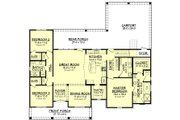 European Style House Plan - 3 Beds 2 Baths 1900 Sq/Ft Plan #430-144