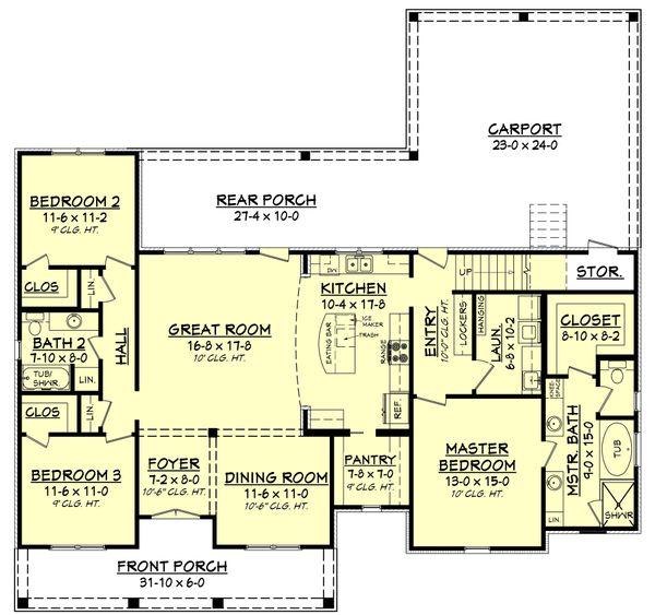 European Floor Plan - Main Floor Plan Plan #430-144