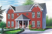 European Style House Plan - 3 Beds 1 Baths 2400 Sq/Ft Plan #23-2148 Exterior - Front Elevation