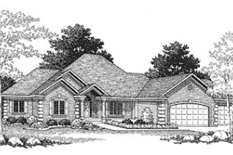European Exterior - Front Elevation Plan #70-451