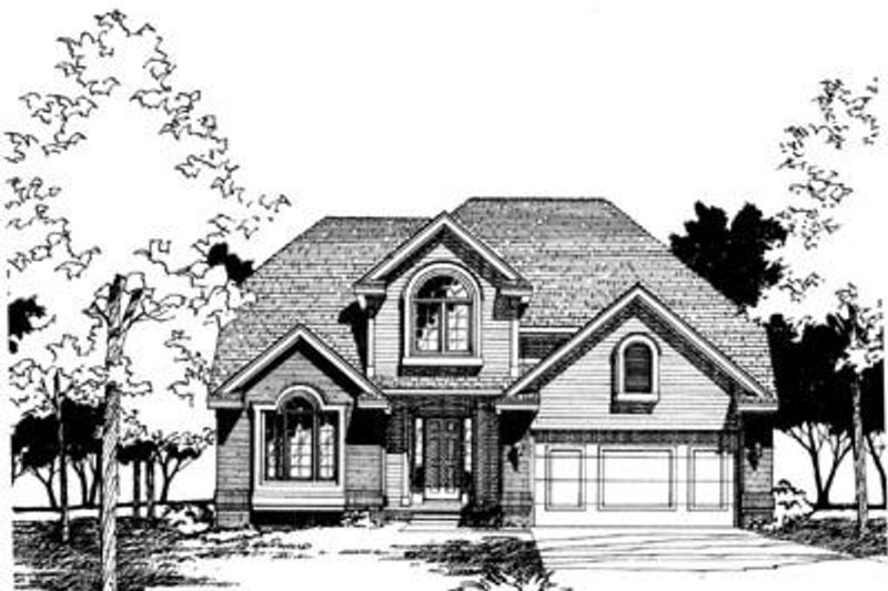 Traditional Exterior - Front Elevation Plan #20-639 - Houseplans.com
