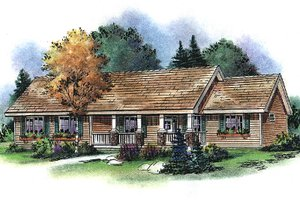 Country Exterior - Front Elevation Plan #18-4506